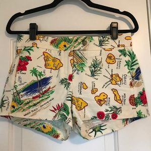 Pacific Island Patterned Shorts